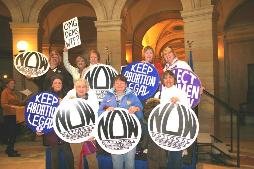 NOW Members at Stop Stupak Amendment Rally at MN State Capitol 001(2)